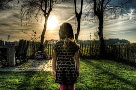 Girl Walking Sunrise